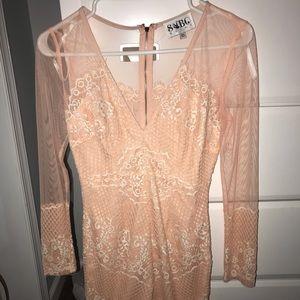 Peach lace Sabo Skirt dress